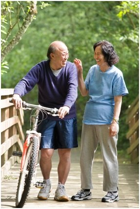 Couple with Bike