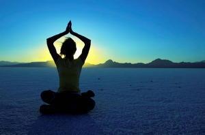 meditate, desert